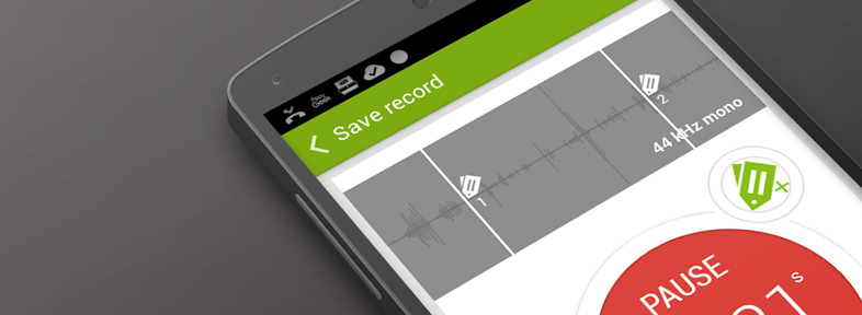 Recordense for Android is a stylish recorder for annotating audio with notes
