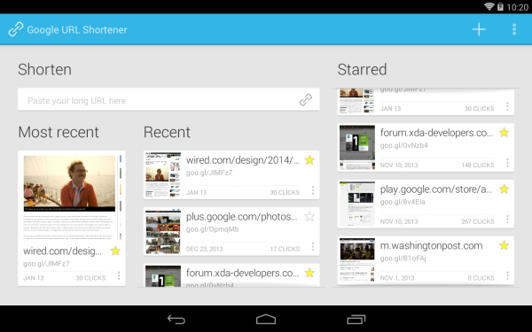 Unofficial Google URL Shortener app hits the Play Store
