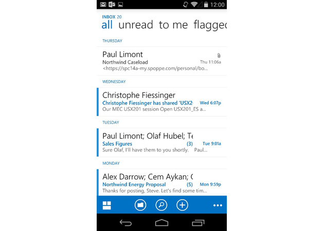 Outlook Web App for Android will help your smartphone fit in at work