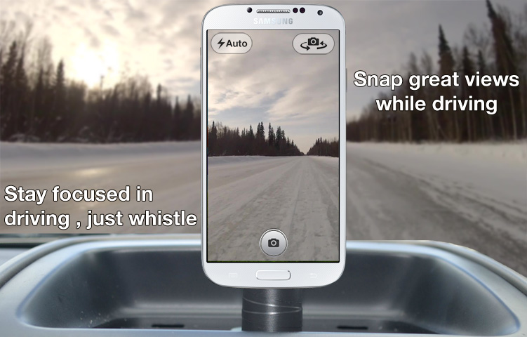 Whistle Camera for Android lets you take photos and selfies with your mouth