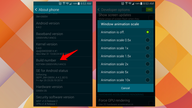 disable animations - Disable Animations on Android to Improve Performance