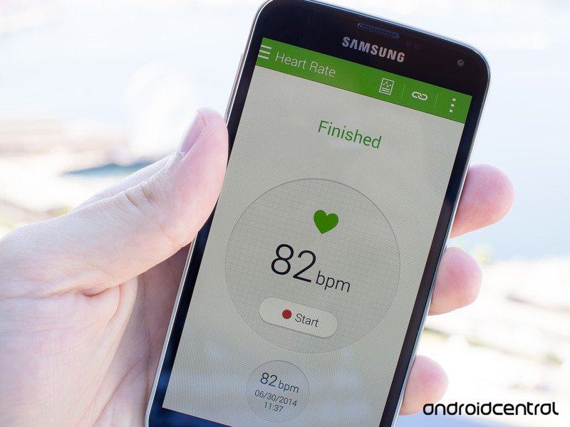 How to use the Heart Rate Monitor on the Galaxy S5