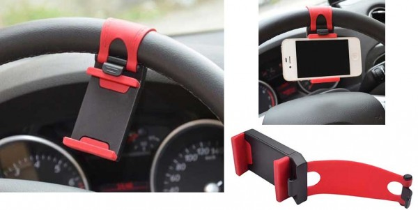 Put your phone front and center with this steering wheel mount