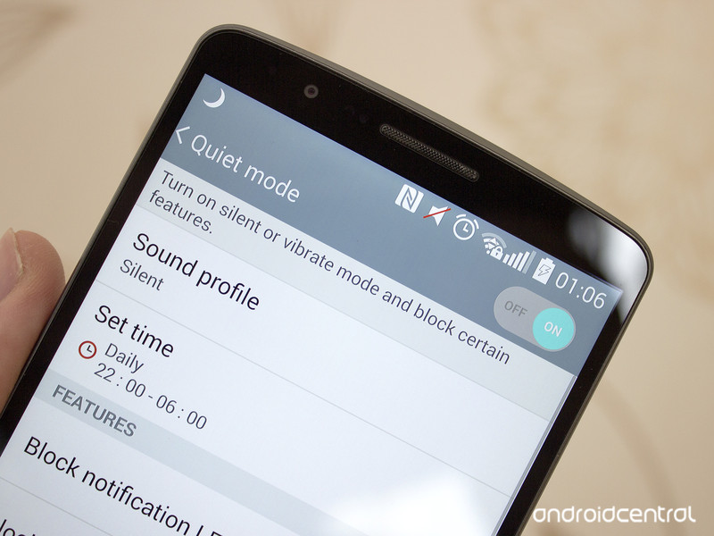 How to use quiet mode on the LG G3