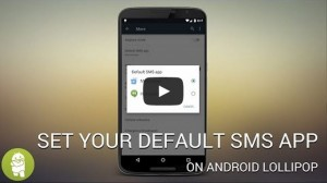 set default sms app lollipop androidability 300x168 - How to set your default SMS app on Android Lollipop