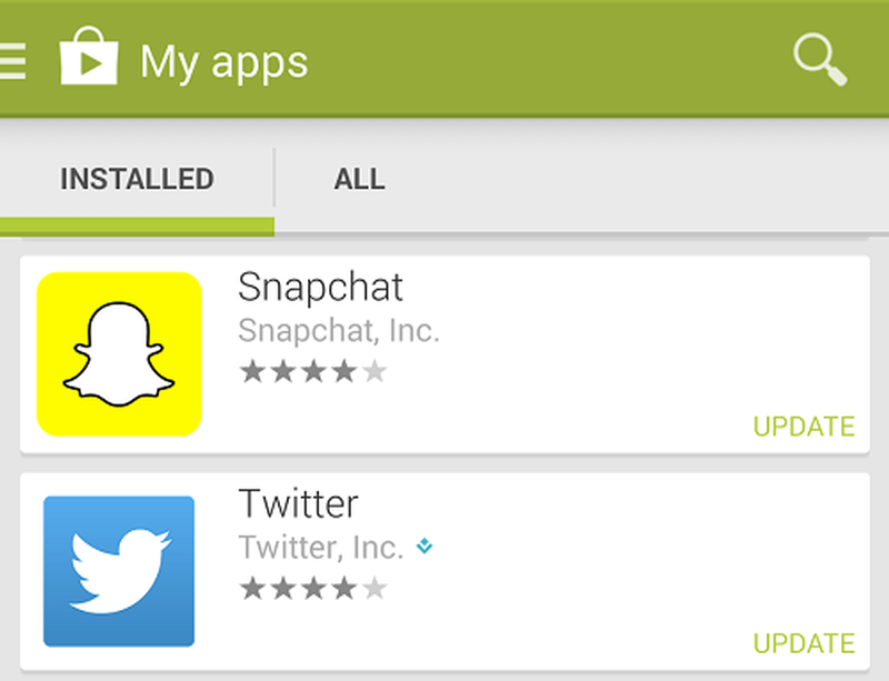 on updating snapchat app on ios and android androidability